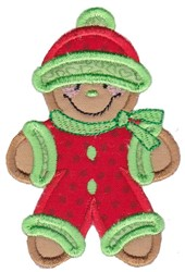 Gingerbread Applique embroidery design