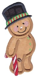 Applique, Gingerbread embroidery design