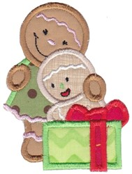 Applique Gingerbread Girls embroidery design