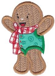 Xmas Gingerbread Applique embroidery design