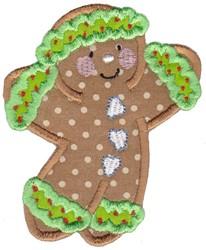 Applique Xmas Gingerbread embroidery design