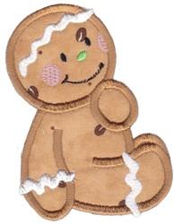 Xmas Applique Gingerbread embroidery design