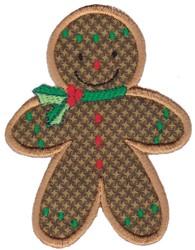Gingerbread Man Applique embroidery design