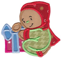 Applique Gift & Gingerbread embroidery design