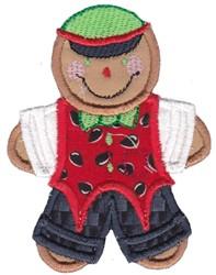Applique Gingerbread Man embroidery design