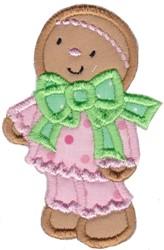 Gingerbread Girl Applique embroidery design
