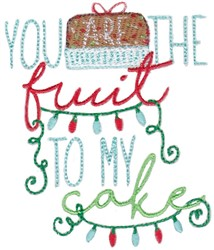 Fruit Cake embroidery design