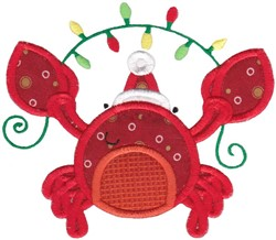 Xmas Lobster embroidery design