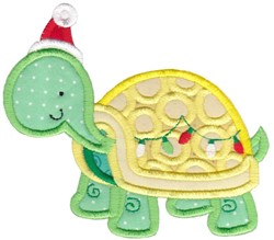 Xmas Turtle embroidery design