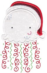 Xmas Jellyfish embroidery design