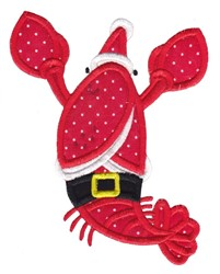 Christmas Lobster embroidery design