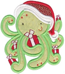 Xmas Octopus embroidery design