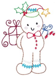 Xmas Gingerbread embroidery design