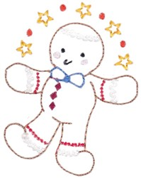 Outline Gingerbread embroidery design