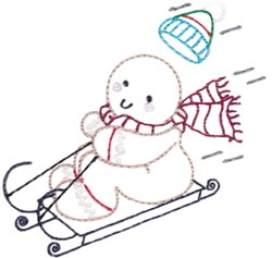 Gingerbread Sled embroidery design