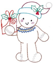 Gingerbread & Gift embroidery design