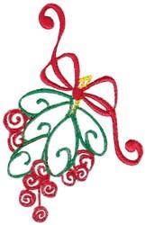 Christmas Mistletoe embroidery design