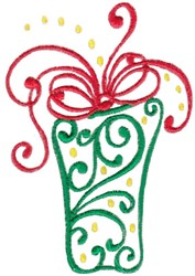 Swirly Gift embroidery design