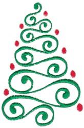 Swirly Tree embroidery design
