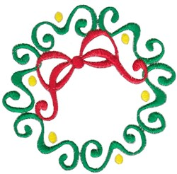 Swirly Wreath embroidery design