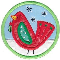 Coaster Bird Applique embroidery design