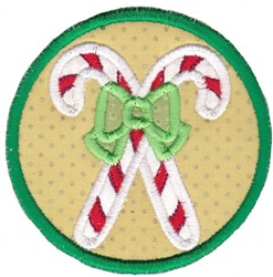 Candy Cane Coaster embroidery design