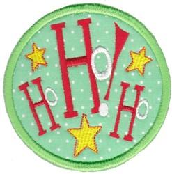 Ho Ho Ho Coaster embroidery design