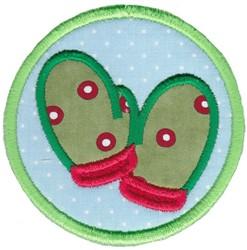 Mitten Coaster embroidery design