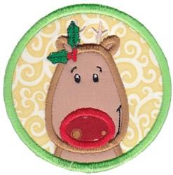 Reindeer Coaster embroidery design