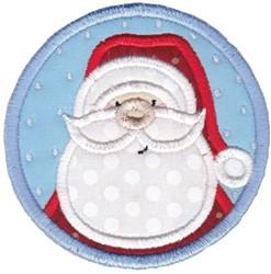 Santa Coaster embroidery design