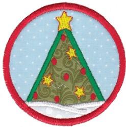 Tree Coaster embroidery design