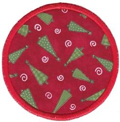 Xmas Tree Coaster embroidery design