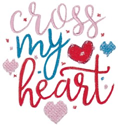 Cross My Heart embroidery design