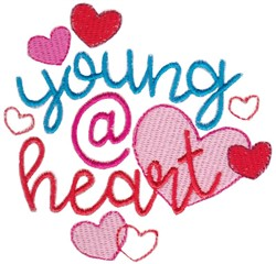 Young @ Heart embroidery design