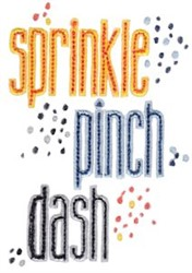 Sprinkle Pinch Dash embroidery design