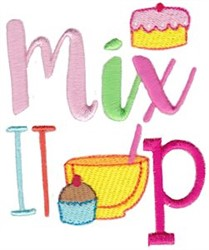 Mix It Up embroidery design