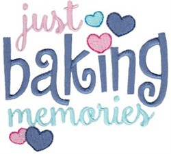 Baking Memories embroidery design