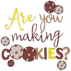 Making Cookies embroidery design
