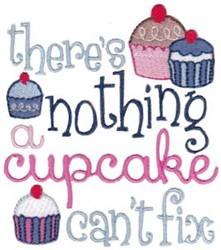 Cupcake Fix embroidery design