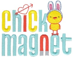 Chick Magnet embroidery design