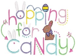 Hopping For Candy embroidery design