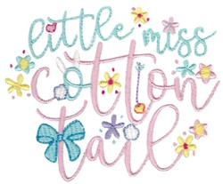 Miss Cotton Tail embroidery design