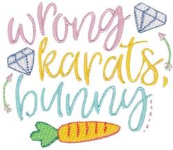 Wrong Karats embroidery design