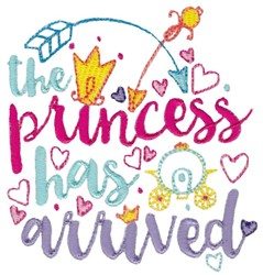 Princess Has Arrived embroidery design