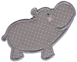 Applique Hippo embroidery design