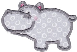 Hippos Applique embroidery design
