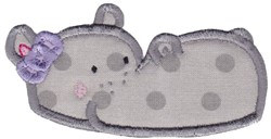 Hippo Head embroidery design