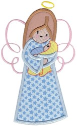 Angel & Baby Applque embroidery design