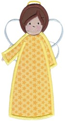 Yellow Angel Applque embroidery design