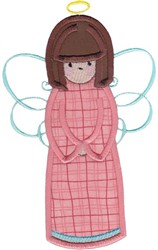Pink Angel Applique embroidery design
